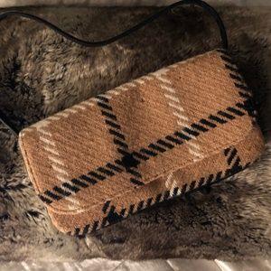Dolce & Gabbana khaki black wool Plaid bag purse